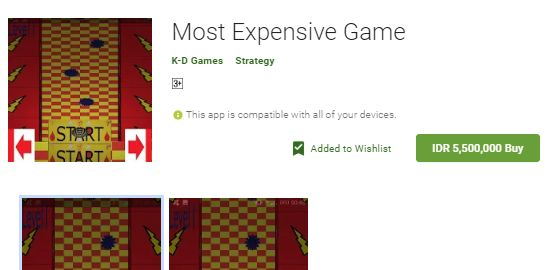 Most Expensive Game 59595