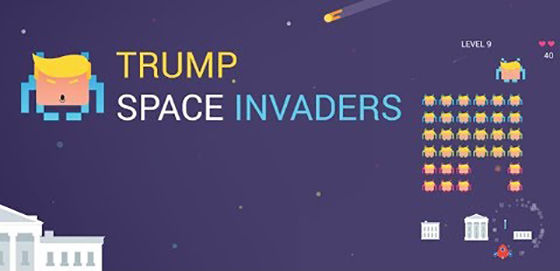 Trump Space Invader Game Unik Android Terbaik