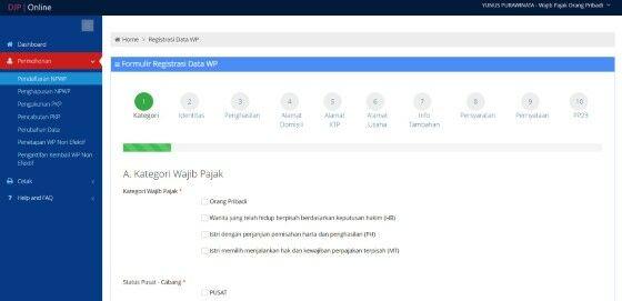 Cara Mengisi Formulir Npwp Online C1bd4