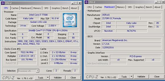Intel Kaby Lake Core I7 7700k