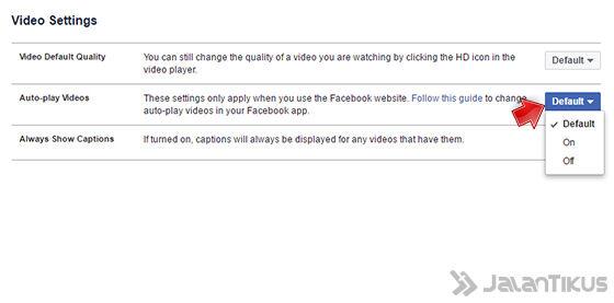 Mematikan Autoplay Video Facebook Di Pc 4