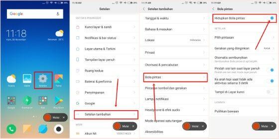 Langkah Langkah Cara Screenshot Xiaomi Dengan Quick Ball C786b