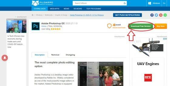 Cara Langkah Lengkap Mudah Download Photoshop Gratis Filehippo Download Free Version 03fc5