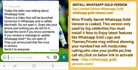 WhatsApp Gold Scam Bd83c
