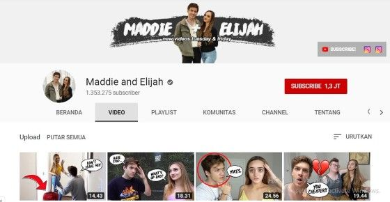 Youtuber Couple Maddie And Elijah 92d42