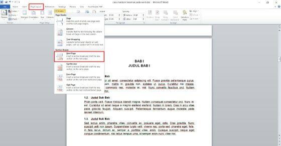 Cara Membuat Nomor Halaman Di Word 2007 Untuk Skripsi Custom 8c844