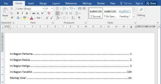 Cara Membuat Daftar Isi 4 900a3