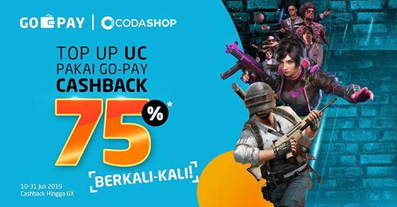 Gopay Codashop Promo Cashback 45673
