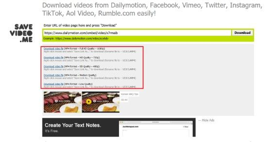 Cara Download Video Di Dailymotion Di Savevideo 80c8f