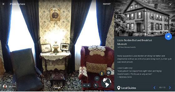 Museum Lizzie Borden Bed And Breakfast Tempat Berhantu Google Earth