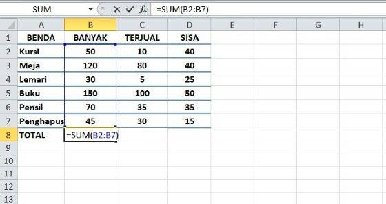Rumus Excel Sum Fc31d