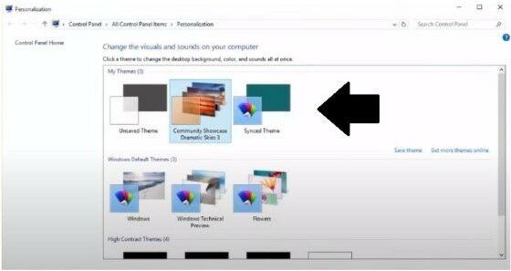Cara Install Theme Windows 10 Terbaik Pilih Kolom My Themes 18ef3