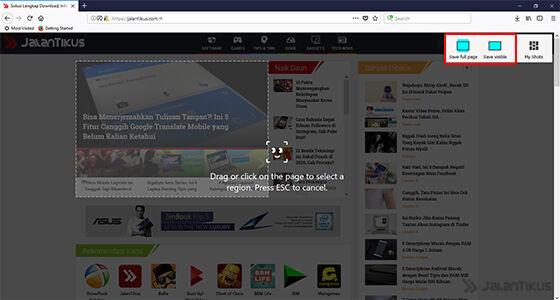 Cara Screenshot Panjang Di Komputer Tanpa Aplikasi Tambahan 3