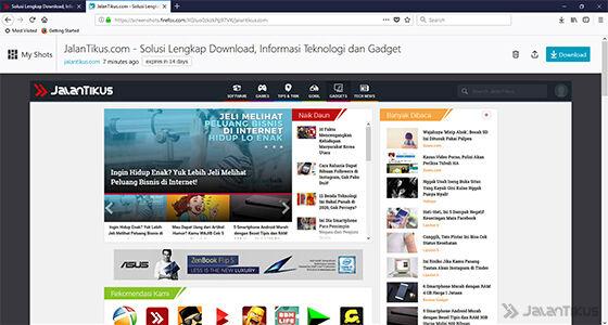 Cara Screenshot Panjang Di Komputer Tanpa Aplikasi Tambahan 5