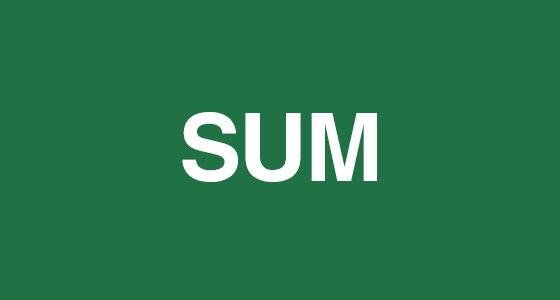 Sum Rumus Rumus Excel