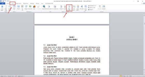 Cara Memberi Halaman Pada Word Secara Berurutan Custom 3103f
