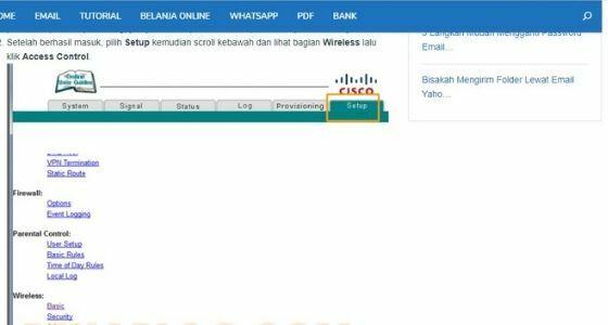 Cara Memblokir Pengguna Wifi B974b