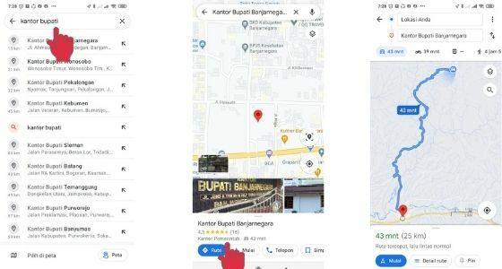 Mencari Rute Lokasi Menggunakan Google Maps 563c7