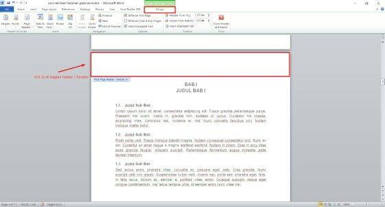 Cara Membuat Nomor Halaman Di Word 2010 Untuk Makalah Custom Bc97b