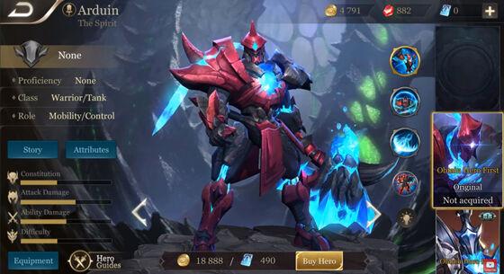 Hero Warrior Thane Arena Of Valor 03