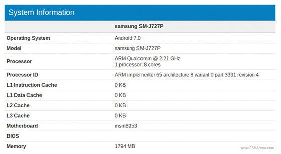 Samsung Galaxy J7 2017 Ram 2gb