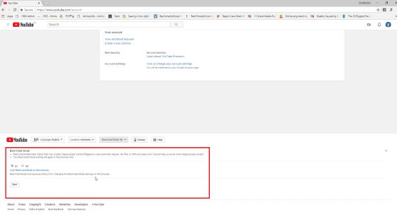 Cara Mematikan Mode Restricted Youtube 3 133df