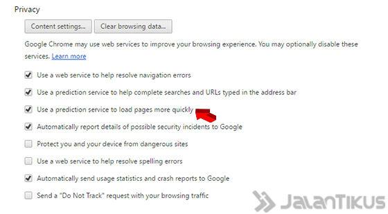 Cara Mempercepat Koneksi Internet Google Chrome 2