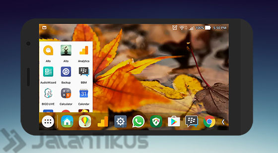 Tampilan Launcher Taskbar Android