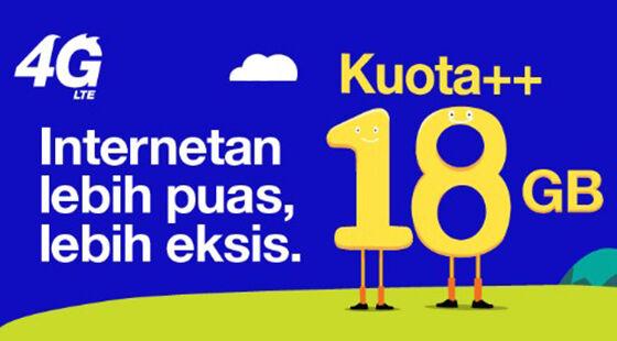 Paket Internet 3 Kuotaplus 130fc