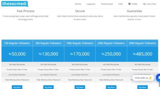 Beli Followers Instagram The Socmed Custom B365a
