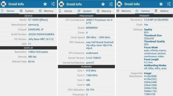 Cara Mengecek Spesifikasi Hp Droid Hardware Info