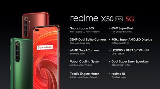 Harga Realme X50 Pro 6 29326