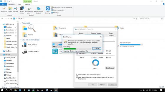 Menghapus File Secara Otomatis Disk Cleanup