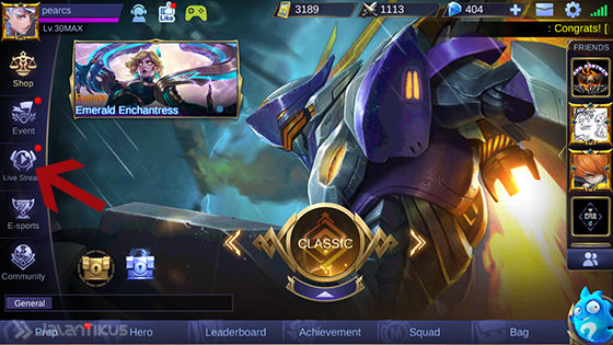 Cara Live Streaming Mobile Legends 2