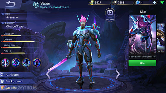 Guide Saber Mobile Legends 1