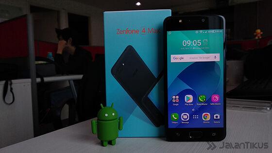 Tampak Depanreview Asus Zenfone 4 Max