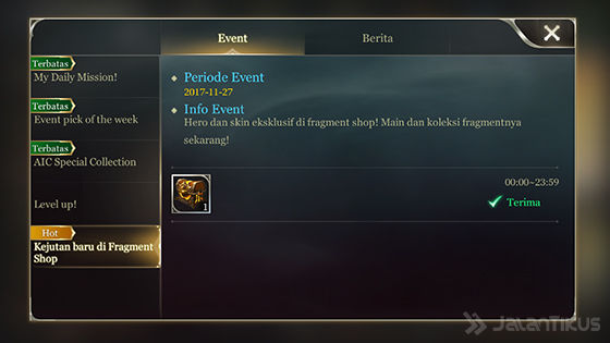 Event Fragment Zaman Now Arena Of Valor 2