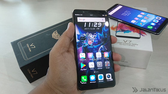 Tampilan Depan Vivo V7 Mobile Legends