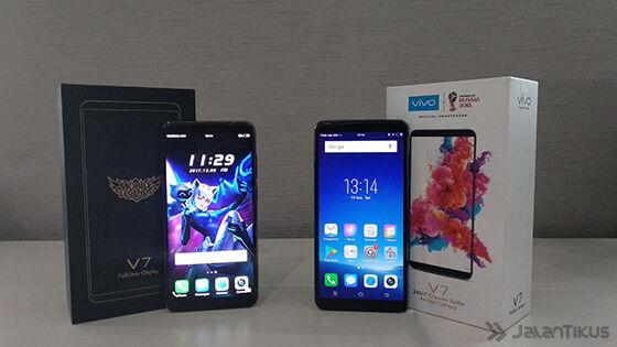 Perbandingan Vivo V7 vs Vivo V7 Mobile Legends