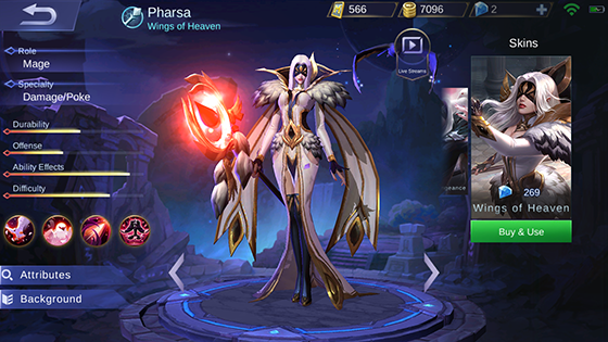 Skin Pharsa Mobile Legends