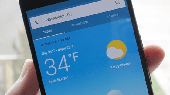 Aplikasi Cuaca Terbaik 1