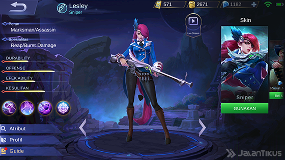 Hero Guide Lesley Mobile Legends