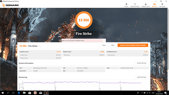 Benchmark 3Dmark Fire Strike
