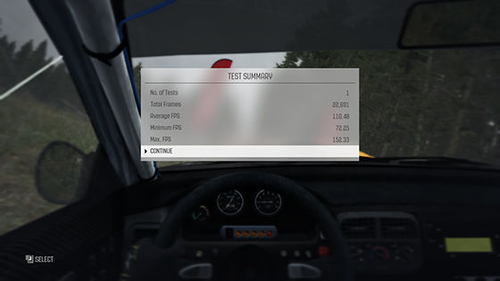 Benchmark DiRT Rally