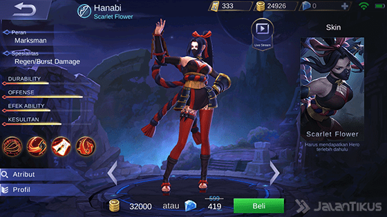 Hero Hanabi Mobile Legends 07f04
