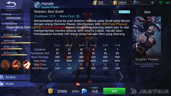 Skill 2 Hanabi Mobile Legends 231ef