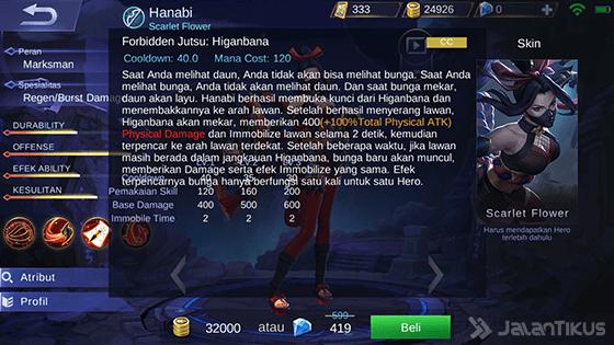 Skill Ultimate Hanabi Mobile Legends 9a33f