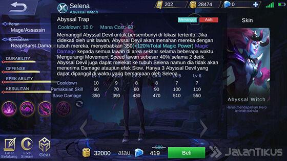 Selena Mobile Legends Skill 1 Elven C1d90