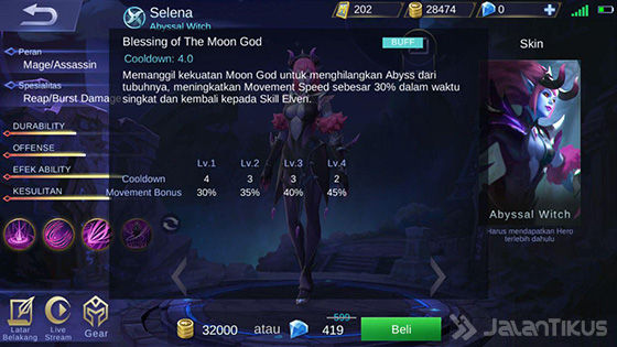 Selena Mobile Legends Skill 3 Abyssal 5bc80