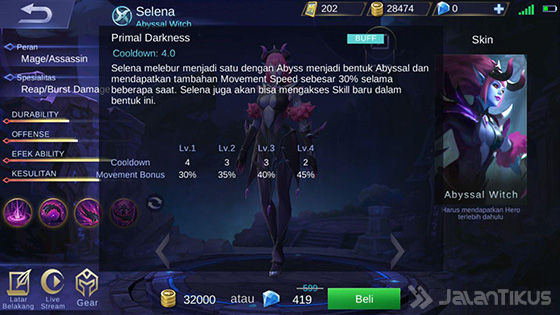 Selena Mobile Legends Skill 3 Elven A873a